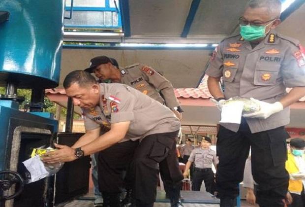 Ditresnarkoba Polda Kepri Musnahkan Sabu 32.063,2 gram