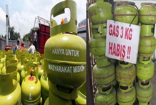 Pangkalan Gas 3 Kilogram Kosong ,Warga Susah Beli Gas diPengencer Diatas HET