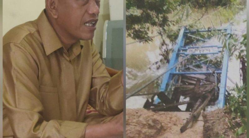 Pasca Ekspose Jembatan Gantung Lubuk Alai Ambruk. Oknum Kabid SDA PUPR Meradang ?