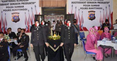 Polres Bukittinggi Syukuran Menyambut Hari Bhayangkara Ke-74