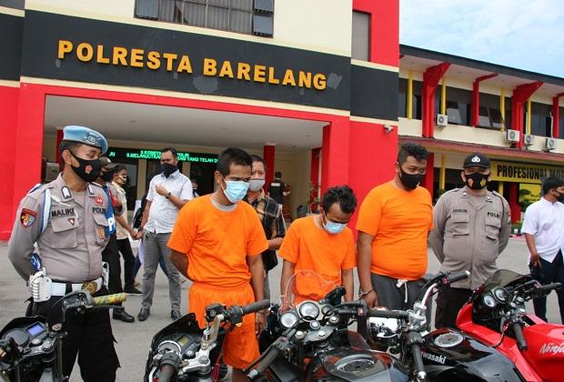 Polsek Sagulung Kota Batam Ungkap Tindak Pidana Pencurian 40 Sepeda Motor