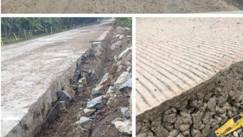 DPP MT-AB. Sorot Proyek Jalan Nasional Kiliran Jao Sijunjung Sumbar, PPK 2.2, Rigid Beton Turun dan Retak